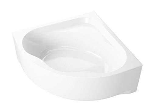 Aqualuxbad Badewanne Eck Badewanne-Acryl 150x150x62cm inkl. Wannenfuß und Ablaufgarnitur, Schürze:mit Schürze