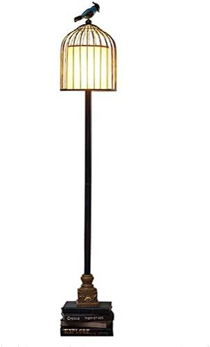 Lámpara de pie moderno Lámpara de pie Americana Sala de estar Habitación Lámpara de noche Creative Bird Cause estudio Lectura de pie Lámpara de pie Europea Luz de pie Lámpara de pie