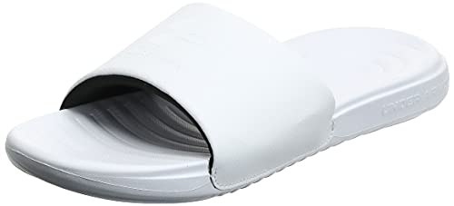 Under Armour Women's Ansa Fix Slide Sandal, White (101)/White, 11