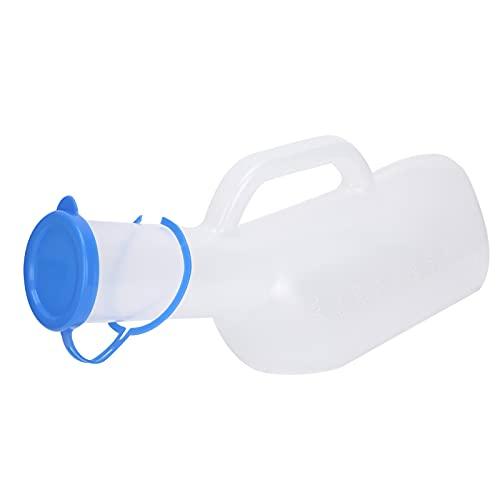 Orinal de 1000ml para hombre transparente con escala, olla de cámara de plástico para botella de orina portátil para paciente masculino anciano postrado en cama