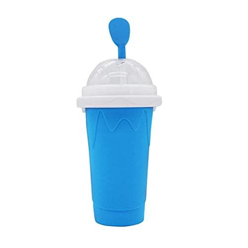 MagiDeal DIY Slushy fabricante de la taza de sílice de doble capa de la taza de hielo del pellizco de la taza de hielo de silicona mágica de enfriamiento de la - Azul
