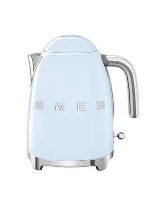 Smeg KLF03PBUS 50's Retro Style Aesthetic Electric Kettle with Embossed Logo, Pastel Blue