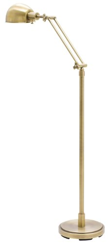 House of Troy AD400-AB Addison 1LT Adjustable Floor Lamp, Antique Brass Finish