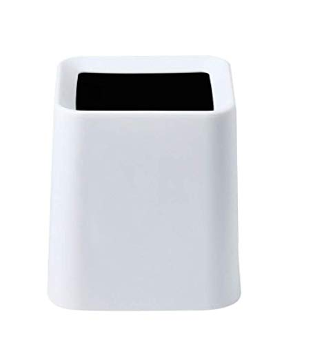 ZKCXIM Double-Layer Mini Trash can Trash can Desktop car Round Trash can Plastic Kitchen Storage Bin Household Cleaning Supplies