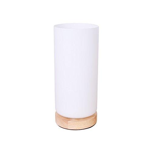 Nordique Minimaliste Creative Solide Bois Verre Abat-Jour Lampe, Restaurant Bureau Chaud Nuit Lumière Lampe de Chevet Chambre Éclairage Lampe de Table Lampes (Taille : B)
