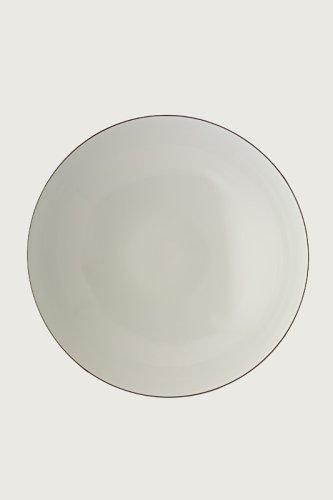 Alessi Sg70/3 Mami Platinum Bol Creuse en Porcelaine Blanche, Décorée, Set de 6 Pièces