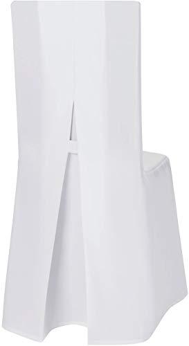 Hussenkönig Stuhlhussen Stretchhusse Stuhlüberzug Stuhlbezug Hussen Stuhlhusse für Standard Bankettstühle Premium Weiß