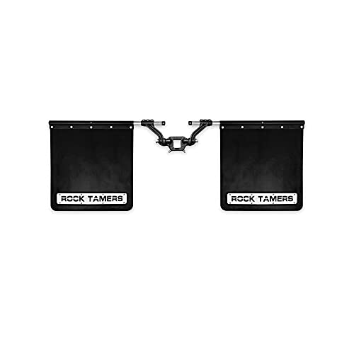 """Rock Tamers Mudflap System 00108 2"""" Hub with Matte Black Stainless Steel Trim Plates"""