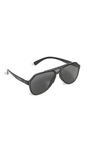 Dolce & Gabbana 0DG6128 anteojos de sol para hombre, Negro mate, Talla unica