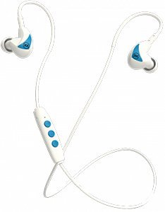 Mixx Audio   Memory Fit 2 Bluetooth Wireless Stereo Earphones - White - Compatible With Android/Ipods/Ipads/Iphone