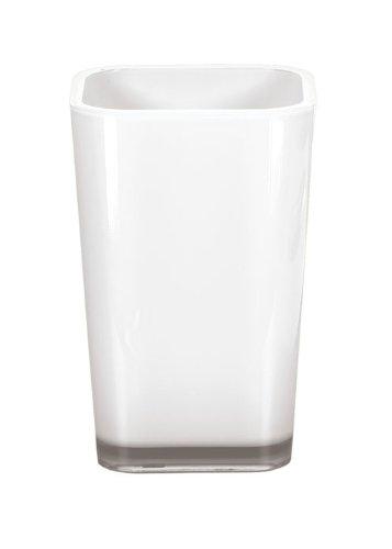 Kleine Wolke Easy 5061114852 - Bicchiere portaspazzolini, bianco