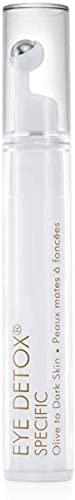Talika Eye Detox Specific Olive to Dark Skin - Augencreme gegen Falten und Augenringe - Farblose Concealer Creme - Aufhellende Augenpflege mit Massage Roller - 91 ml