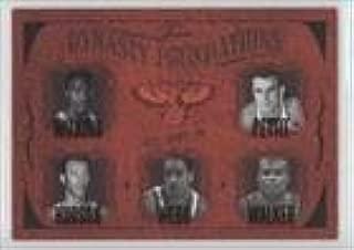 Dominique Wilkins; Bob Pettit; Lou Hudson; Spud Webb; Antoine Walker #4/500 (Basketball Card) 2004-05 Flair - Dynasty Foundations #ATHA