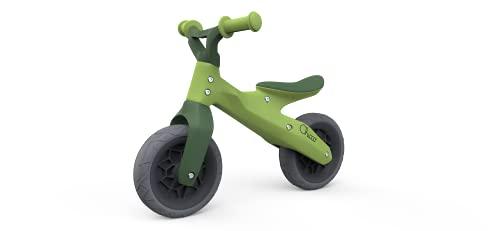 Chicco Balance Bike Eco Plus, Bicicletta Senza Pedali per l'Equilibrio, Linea Ecologica in Plastica Riciclata, con Manubrio e Sellino Regolabili, Max 25 kg Unisex Bambino, Verde, 2-5 Anni