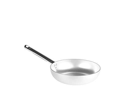 Pentole Agnelli ALMA111B22 Cacerola de Alto Salto, Mango Tubular, Aluminio Profesional, 22 cm