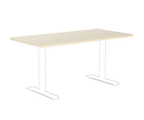 Esmart Germany Tischplatte 160 X 80 Cm, Ahorn Dekor, Mdf, Für Schreibtische