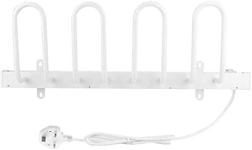 KAKTT Scarponi elettrici autoportanti Deumidificatore e scaldino per Asciugatura Stendibiancheria (4 Scarpe), 61 x 23,5 x 11 cm, Bianco