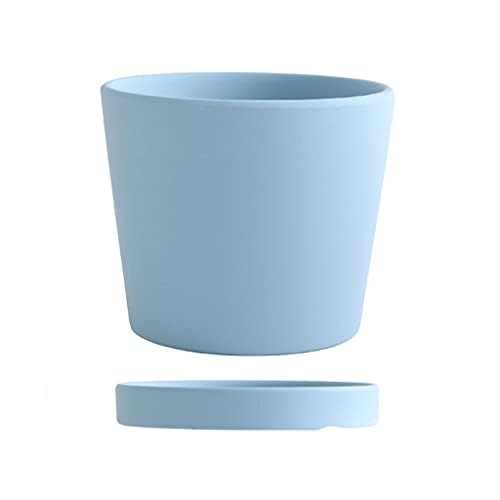 YIXIN2013SHOP Flower Pots Hand-made Round Ceramic Flower Pots With Trays and Drainage Devices Suitable for Planting Various Plants Suitable for Indoor and Outdoor Gardens Plant Pot (Color : C)