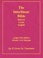 Larger Print Interlinear Hebrew Greek English Bible, 4 Volume Set, Jay P. Green, Sr. - Translator (2011-05-04)