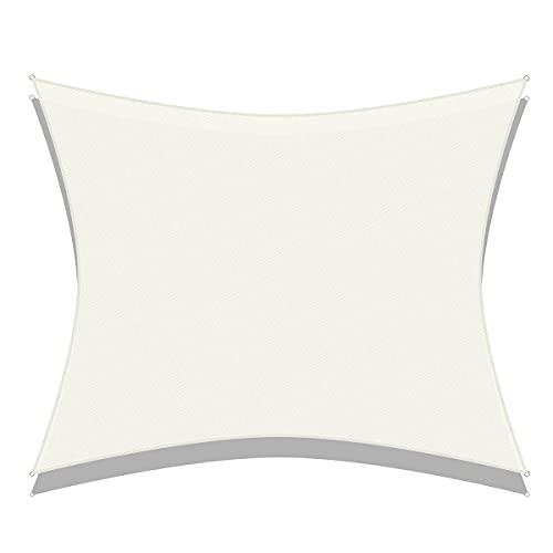 N/Brand Toldo para sombrilla, toldo para Patio, Vela Rectangular para sombrilla, Red para Cubierta de Piscina para el hogar y el jardín (2 * 3M,White)