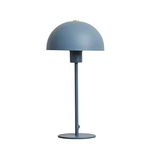 Hong Yi Fei-Shop Lampara Mesilla Lámpara de Escritorio Creativa de Moda Escritorio de Estudio Dormitorio Sala de Estar Lámpara de Mesa Lámpara de Mesa Lámpara de Mesa (Color : Blue)