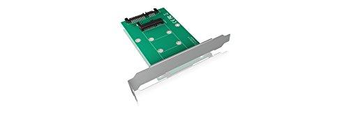 Icy Box IB-CVB515 Internes Konverter-Board 1x mSATA SSD (3030, 3050, 3070) zu 1x SATA III (6 Gbit/s), Full Profile Bracket, Silber