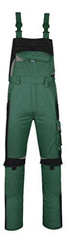 PKA Bestwork New Latzhose mit vielen Taschen und Gummibund(Grün, 54)