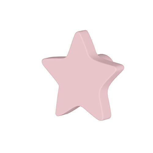 Greca Pomos Infantiles Estrella. 6 Unidades. Acabado Lacado Mate de la máxima Calidad. (Rosa)