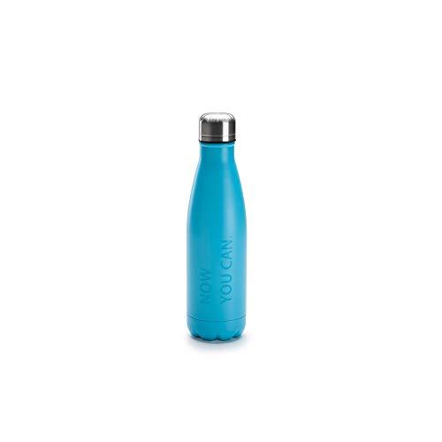 Volkswagen 10A069604 Trinkflasche ID.3 Edelstahl Flasche Thermobecher Thermosflasche, türkis