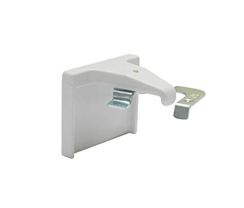 GARDINIA Klebeträger-Set für Jalousien, Klebeplatten zur Montage auf dem Fensterflügel, 2 Stück, Kunststoff/Metall, Weiß