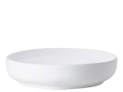 Zone Denmark Ume Seifenschale/Seifenhalter/Seifenablage, Steinzeug mit Soft Touch-Beschichtung, weiß