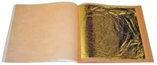Professional Quality Genuine Gold Leaf Sheets 3-3//4 inches Booklet Loose Leaf 23.75k 10 Sheets