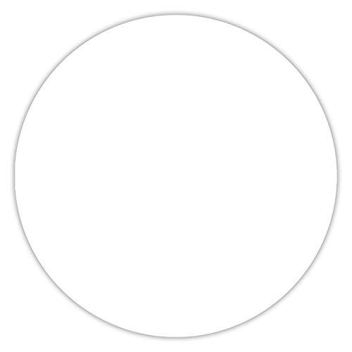Mauspad in Weiß I Ø 22 cm rund I Mousepad in Standard-Größe, rutschfest I schlicht modern zeitlos I dv_279