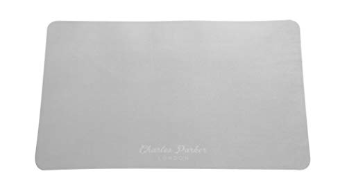 Charles Parker London Genuine Microfiber Cleaning Cloths Specifically Designed for Cleaning iPads, Smartphones, Tablets, Sunglasses, Smart TVs and Laptops (MacBook Pro 13', Grey)