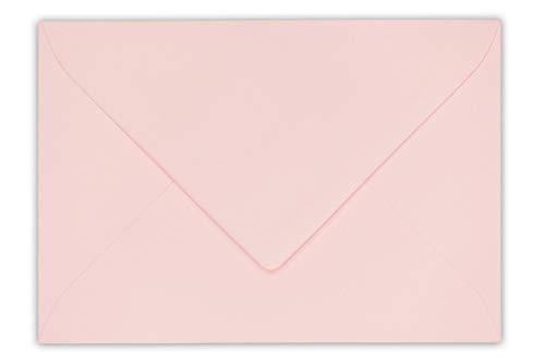 20 echte Rössler Briefumschläge für Briefe, Einladungen, festliche Anlässe oder Karten U8 in Hibiskus - 12,5 x 18,5 cm