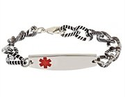 Purchase Aluminum Design Bracelet - Black & White Medical ID Bracelet (8)