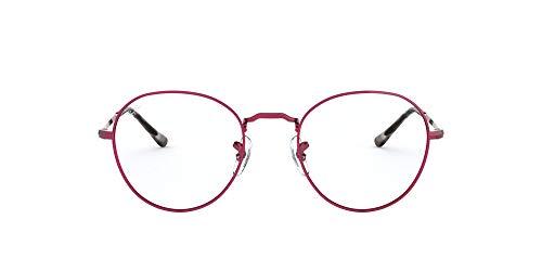 Ray-Ban Round Metal II Gafas de lectura, Red, 49 Unisex Adulto