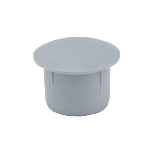 200 Abdeckkappen für Bohrlöcher 12 mm IROX grau Kunststoff Tiefe Bohrung 9 mm Kopf 15 mm Kappe für Möbel 12 mm