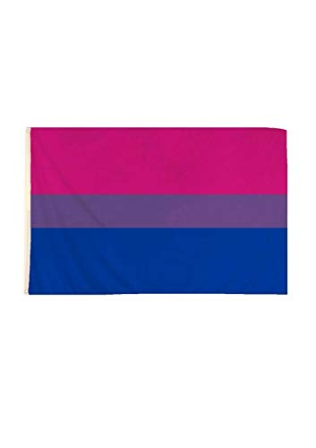 B-Creative 5ft x 3ft Grote Biseksuele Vlag Gay Pride Fancy Jurk LGBTQ Parade Regenboog Hoeden Sieraden Party Accessoire