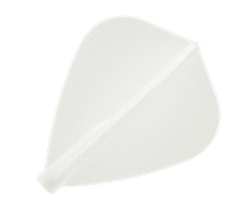 Cosmo Darts 6 Pack Fit Flight - Kite Dart Flight (White)