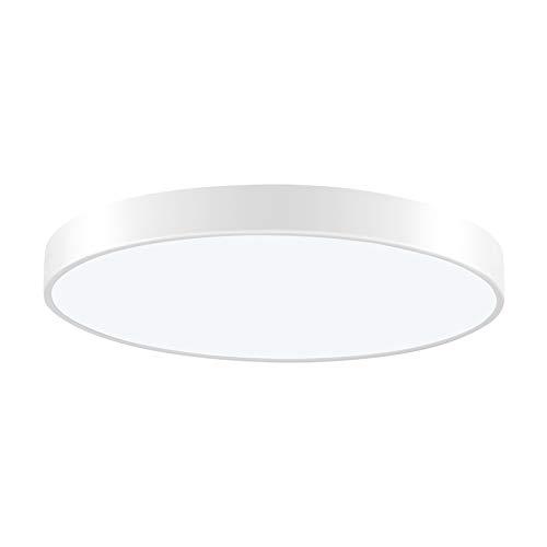 LED Deckenleuchte 36W Rund Deckenlampe Moderne Esszimmer Deckenbeleuchtung, Ultraslim Deckenleuchten Deckenstrahler Bürodeckenleuchte, Kaltweiß 6000K, Ø50cm, 150° Abstrahlwinkel
