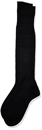 POMPEA Scozia Calze al ginocchio, (Nero 0071), 44/45 (Taglia produttore:12/12.5) (Pacco da 6) Uomo