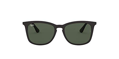 Ray-Ban Unisex RJ9063S Sonnenbrille, Schwarz (Gestell: Schwarz, Gläser: Grün Klassisch 700571), Medium (Herstellergröße: 48)