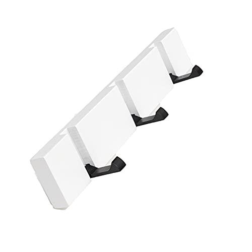 Porta llaves madera, Perchero de Metal montado en la Pared, Perchero para Puerta Entrada Cocina Garaje, Con ganchos ajustables y materiales montaje