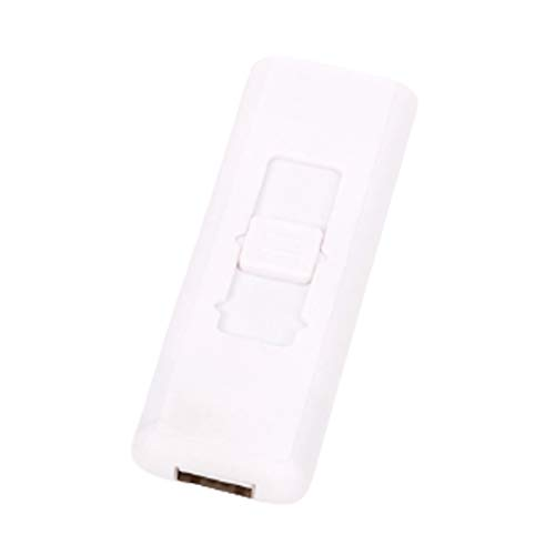 電子 ライター 電熱 USB 直挿し 自動消火機能付き (ホワイト)