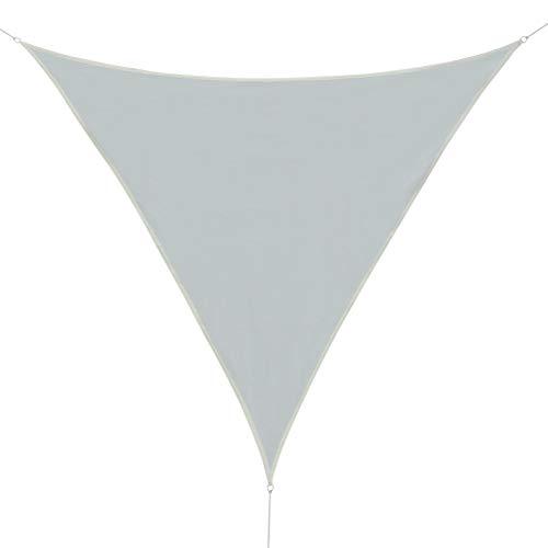 Outsunny Luifel Zonnescherm Driehoek Rechthoek HDPE 4 kleuren 7 maten Nieuw 5x5x5m weißcreme