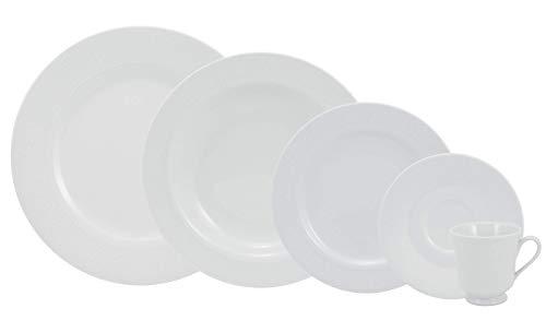 Serviço de Jantar e Chá 30 peças em Porcelana. Modelo Redondo Itamaraty. Decoração Noiva. Fabricado pela Schmidt.