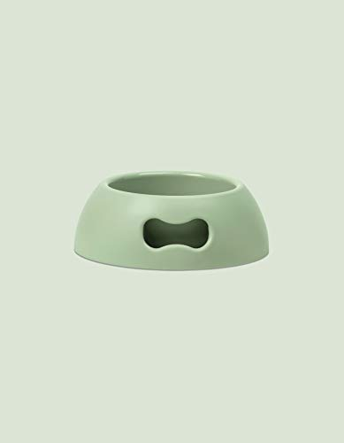 United Pets Pappy Hundenapf, Eco- Friendly, Made in Italy, Futternapf, Trinknapf für Hunde, Grün, 1100 ml, M