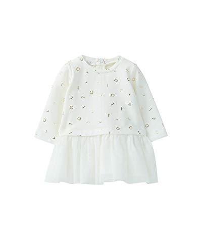 LIUJO Honing Baby Sweatshirt Jurk LOGO Meisje, 3 Maanden (56cm), Wit