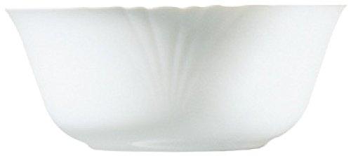 Luminarc D7368 Saladier 24 cm-CADIX, Opale-Verre trempé, Blanc
